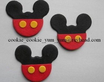 12 edible MICKEY MOUSE SHAPE cake cupcake wedding topper decoration party wedding anniversary birthday engagement valentine