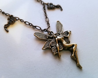 SALE! Little WitchVintage Faery Charm Necklace