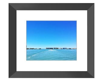 Waves of Blue Framed Print (Black or White)