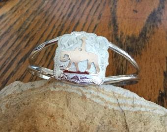 Pleasure Horse Cuff Bracelet / Artisan Handmade/ Sterling Silver