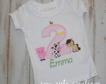 Farm Birthday Shirt, Barn Birthday Shirt, Ruffle Shirt, Farm Animal Birthday Shirt, Farm birthday outfit, barm outfit, sew cute creations