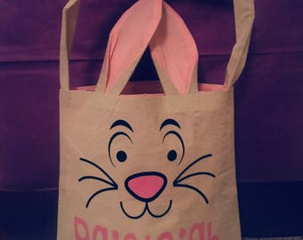 Easter Basket- Easter Bunny- Personalized
