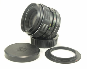 Helios 44M-4 Lens for Nikon F mount INFINITY IS! 2/58 mm f/2 M42 58mm Russian Soviet Made in USSR d40 d60 d5000 d5100 d70 d80 d7100 d90 7200