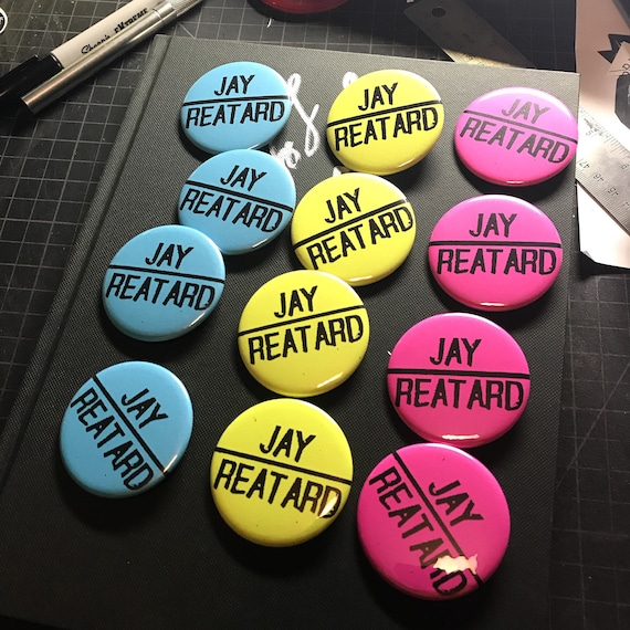 "Big 2.25"" Jay Reatard Pin"