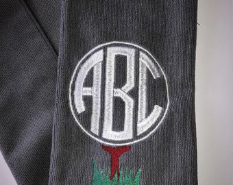 Monogrammed, embroidered Golf Towel
