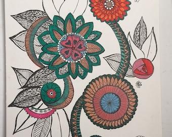 Mandala and henna patterns