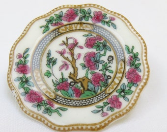Vintage Coalport Bone China Brooch/Pin