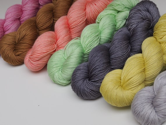 Little Smile Colour Set Silk Merino Blend Fingering Weight Yarn