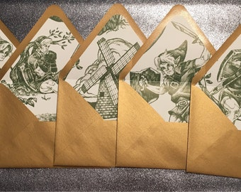 Hero Of Time Toile Stationery With Notecards