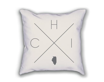Chicago Home Pillow   Illinois Pillow, Illinois Home Decor, Chicago Home  Decor, Illinois