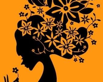 Wall Art Wall Decor Mural Vinyl Decals Stickers-----Floral Girl