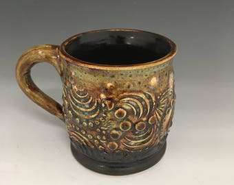 Textured Ceramic Mug, Coffee cup