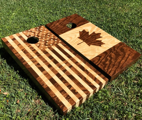 Custom Cornhole Boards Almost Any Flag Canada America