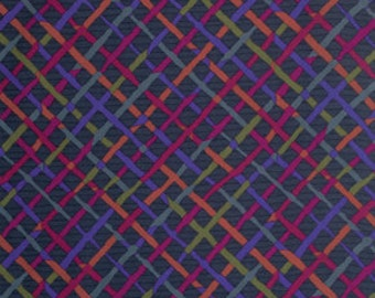 Kaffe Fassett Collective Mad Plaid Charcoal - 1/2yd