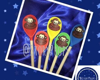 5 Cheeky Monkeys Story spoon set