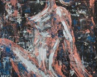 """Original contemporary painting """"Woman"""" V""""AJE"""
