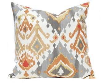 Gray Pillow Cover, Decorative Throw Pillow Covers, Euro Pillow Sham 16 x 16, 18 x 18, 20 x 20, 22 x 22, 24 x 24, 26 x 26