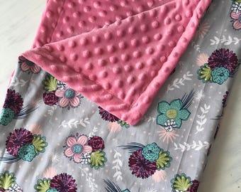 Floral handmade baby blanket