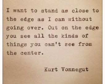Kurt Vonnegut Quote Made On Typewriter