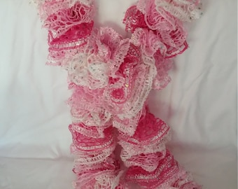 Handmade ruffled scarves-you select color