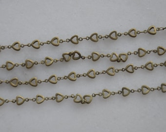 3.3 ft (1m) of Antique Bronze Love links Jewelry Findings --H0019