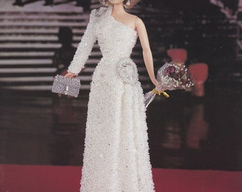 Princess Diana 1985 Beaded Gala Gown Vol 54, Paradise Publications Fashion Doll Clothes Crochet Pattern Booklet P-065