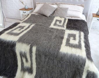 Perfect Wool Coverlet Wool Blanket King Coverlet Wool Throw Blanket Queen Coverlet  Hand Woven Blanket Sofa Cover