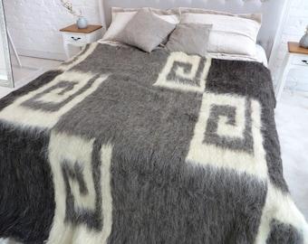 Beautiful Wool Coverlet Wool Blanket King Coverlet Wool Throw Blanket Queen Coverlet  Hand Woven Blanket Sofa Cover
