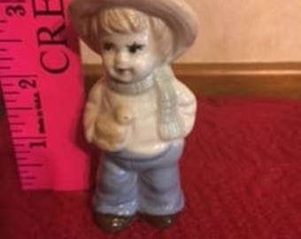 Boy Holding a Duck - Ceramic