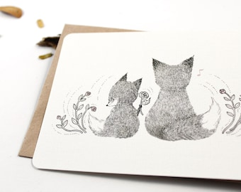 30% OFF - 10 Thank You Notecards - Father Fox
