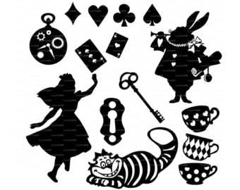 Alice In Wonderland!! !!! -Vinyl Decal set - Multiple colors
