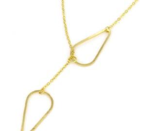 Birdhouse Jewelry- Teardrop Lariat Necklace