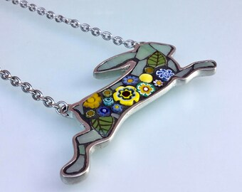 Hare Pendant Necklace - Daisy