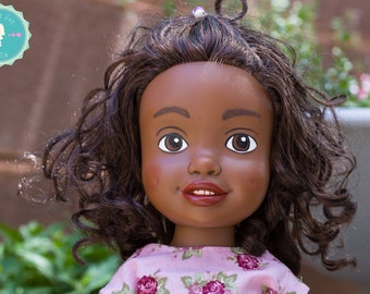 Upcycled remade Doll, 14 inch, remade, recycled, upcycled Sweet Joy Dolls