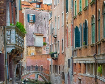 Italy Art, Venice, Italy, Canal, Vintage, Europe, Fine Art Photography, Colorful, Architecture,Travel Photography,  fPOE, Print, (6 Sizes)
