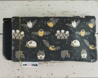 Hons & Pips - Cute Honduran and Pipistrelle Bat Animal Patterned Nintendo 3DS, New 3DS, 3DS XL, New 3DS XL, New 2DS XL Fabric Pouch Case