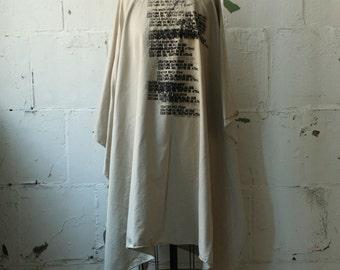 No. 108 Poncho Cape,  Women's Outerwear , Fashion, Text Printed Poncho