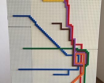 Chicago Subway Map Lego Mosaic