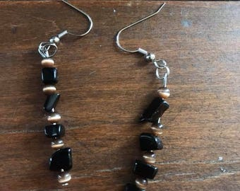 Onyx Tiger Earrings
