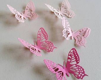 Pink Series Butterfly Die Cuts-Butterfly Confetti-Butterfly Wall Art # Style 1
