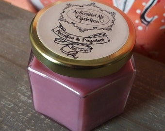 4 Oz Peonies & Peaches Scented Candle
