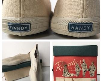 MIB 1950's Women's Randy Canvas Sneakers Size 10