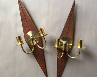 Vintage candle holders set of two