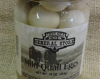 Mild Pickled Quail Eggs - 16 oz