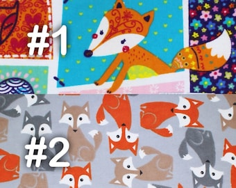 """Woodland Colorful Fox and Hearts Extra Large Receiving Blanket - 36"""" x 42"""""""