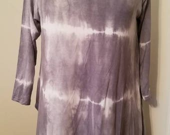 Shibori dyed flowy tunic