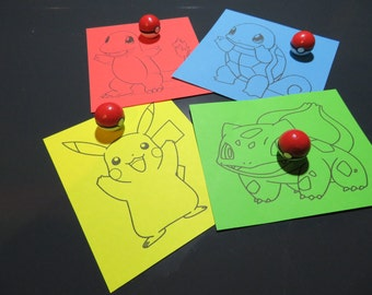 Pokemon Magnets Pokeballs 4er Set