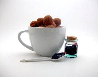Gourmet Dark Chocolate Blackberry Truffles (16 count)