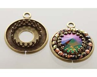 free UK postage Cabochon Setting with Gallery Bezel Pack of 4