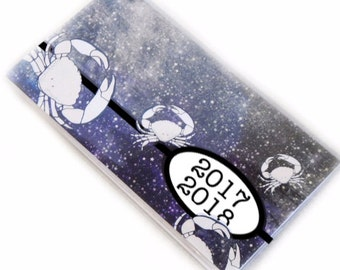 2018 - 2019  mini Planner - Crab Nebula pocket planner - two year calendar - 2 year monthly planner - Cancer zodiac unisex stocking stuffer